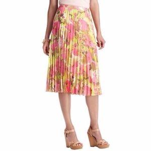 Ann Taylor Loft Pleated Floral Skirt NWT Size 8